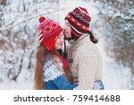 christmas background   winter...   Shutterstock . vector #759414688