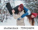 christmas background   winter...   Shutterstock . vector #759414694