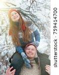 christmas background   winter...   Shutterstock . vector #759414700
