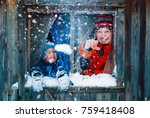 winter lifestyle concept  ... | Shutterstock . vector #759418408