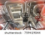 equipment  cables and piping as ... | Shutterstock . vector #759419044