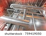 equipment  cables and piping as ... | Shutterstock . vector #759419050
