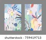 creative universal artistic... | Shutterstock .eps vector #759419713