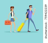 people on vacation conceptual... | Shutterstock . vector #759422239