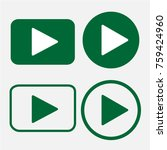 play icon  flat design style | Shutterstock .eps vector #759424960