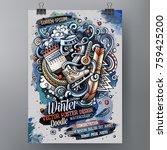 cartoon hand drawn watercolor...   Shutterstock .eps vector #759425200