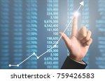businessman plan graph growth... | Shutterstock . vector #759426583