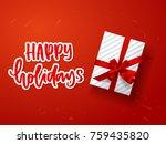 christmas greeting card. xmas... | Shutterstock .eps vector #759435820