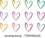heart shape vector design set | Shutterstock .eps vector #759440620