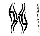tattoo tribal vector design.... | Shutterstock .eps vector #759441073