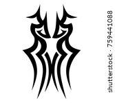 tattoo tribal vector design.... | Shutterstock .eps vector #759441088