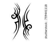 tattoo tribal vector design.... | Shutterstock .eps vector #759441118