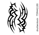 tattoo tribal vector design.... | Shutterstock .eps vector #759441130