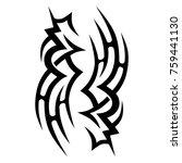 tattoo tribal vector designs.... | Shutterstock .eps vector #759441130