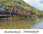 railroad trestle in the new... | Shutterstock . vector #759443029