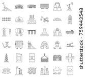 industry icons set. outline... | Shutterstock .eps vector #759443548