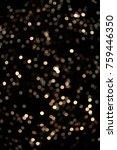 bokeh golden glitter | Shutterstock . vector #759446350