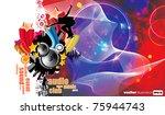 vector illustration of musical... | Shutterstock .eps vector #75944743