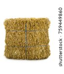 hay isolated on a white...