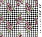 vector seamless plaid pattern...   Shutterstock .eps vector #759451756