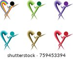 man and heart shape vector icon | Shutterstock .eps vector #759453394