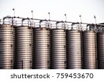 a picture of gray storage vats | Shutterstock . vector #759453670