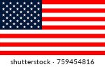usa flag in the original size  | Shutterstock . vector #759454816