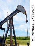 oil well in ayoluengo de la... | Shutterstock . vector #759454948