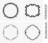 simple round frames | Shutterstock .eps vector #759456529