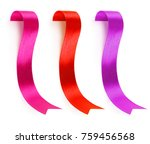 collection of ribbons of... | Shutterstock . vector #759456568