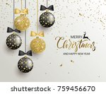 merry christmas and happy new... | Shutterstock .eps vector #759456670