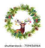 deer animal with decorative... | Shutterstock . vector #759456964