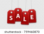 vector realistic isolated red... | Shutterstock .eps vector #759460870