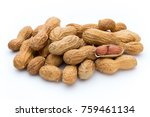 dried peanuts on the white