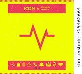 ecg wave   cardiogram symbol.... | Shutterstock .eps vector #759462664