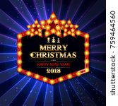 gold christmas banner with... | Shutterstock .eps vector #759464560