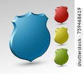 origami shield. design shape... | Shutterstock . vector #759468619