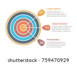 target with three arrows  three ... | Shutterstock .eps vector #759470929