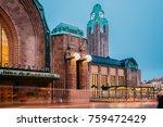 helsinki  finland. night view... | Shutterstock . vector #759472429