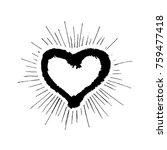 grunge heart hand drawn | Shutterstock .eps vector #759477418