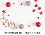 christmas frame. christmas... | Shutterstock . vector #759477766