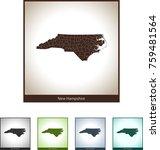 map of north carolina | Shutterstock .eps vector #759481564