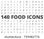 food line icon bakery fast food ... | Shutterstock .eps vector #759482776