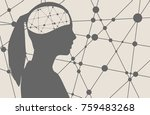silhouette of a woman's head.... | Shutterstock . vector #759483268