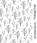 vector seamless winter pattern... | Shutterstock .eps vector #759483730