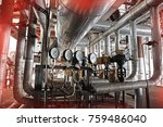 equipment  cables and piping as ... | Shutterstock . vector #759486040