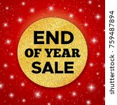 End Of Year Sale Promo Vector...