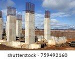 industrial building  foundation ... | Shutterstock . vector #759492160