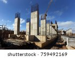 industrial building  foundation ... | Shutterstock . vector #759492169