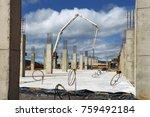 industrial building  foundation ... | Shutterstock . vector #759492184